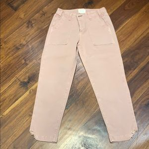 McGuire denim dusty rose cropped utility pants